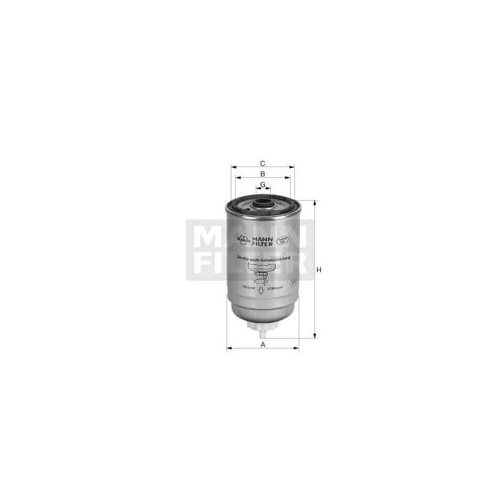 MANN WK724/3 Spin-on Fuel Filter-Diesel   MANN Filters R Us   Spin On Fuel Filter      MANN Filters